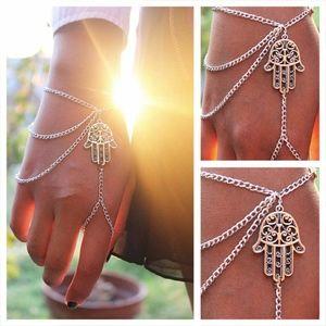 Jewelry - 'Follow Her' Tribal Palm Hand Finger Ring Bracelet